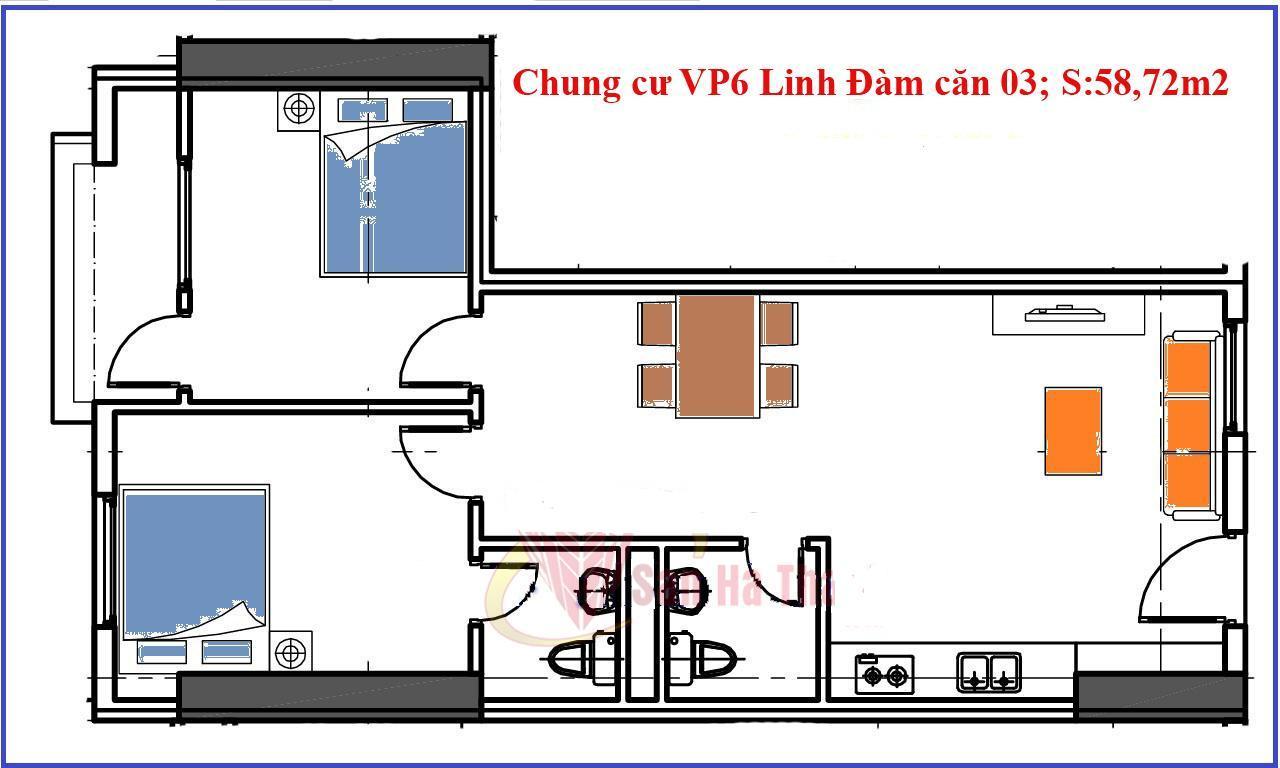 Căn số 3 chung cư vp6 linh đàm