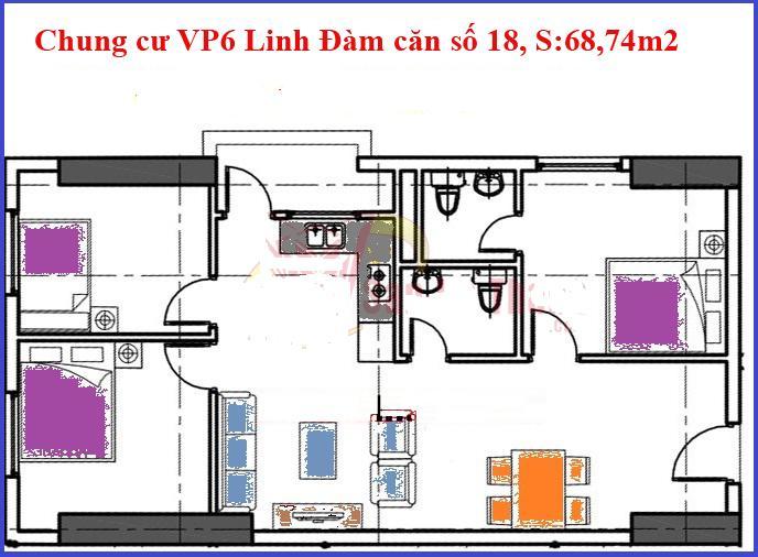 Căn số 18 chung cư vp6 Linh Đàm