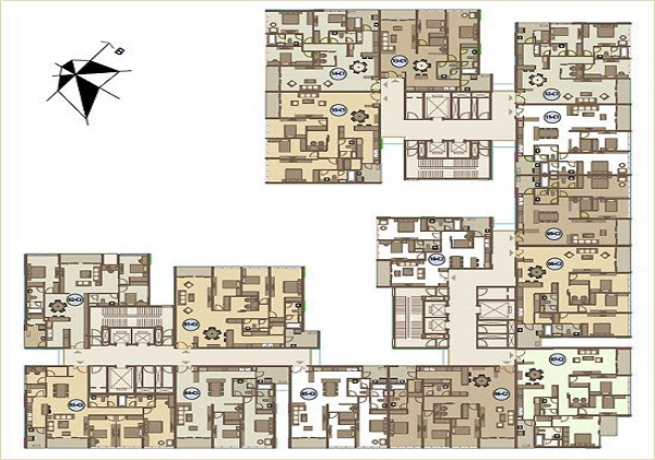 sơ đồ tòa nhà A chung cư Mandarin Garden