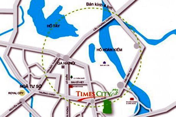 vị trí chung cư times city