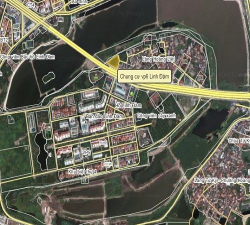 vị trí chung cư vp6 linh đàm